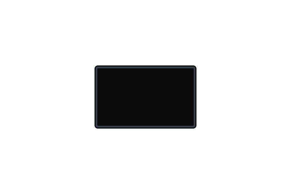 Schild schwarz matt 210 x 130 x 1 mm