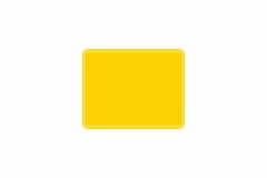 Schild gelb reflex 229 x 178 x 1 mm