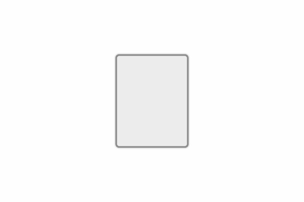 Schild weiß reflex 149 x 190 x 1 mm