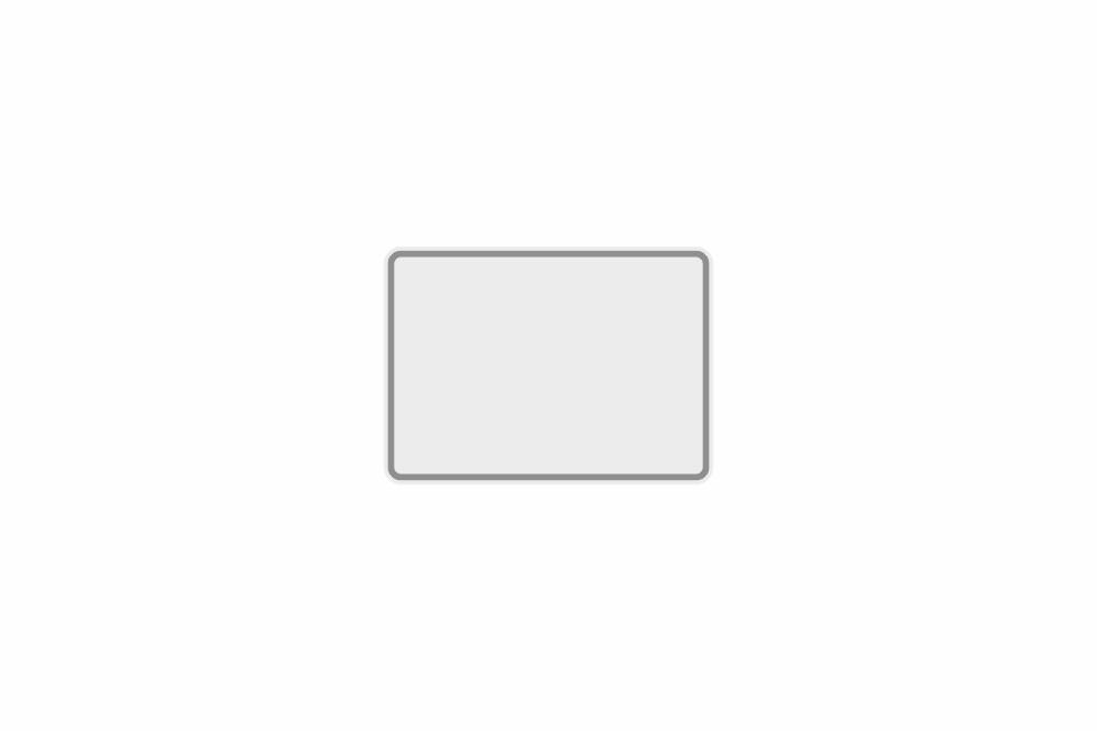 Schild weiß reflex 180 x 130 x 1 mm