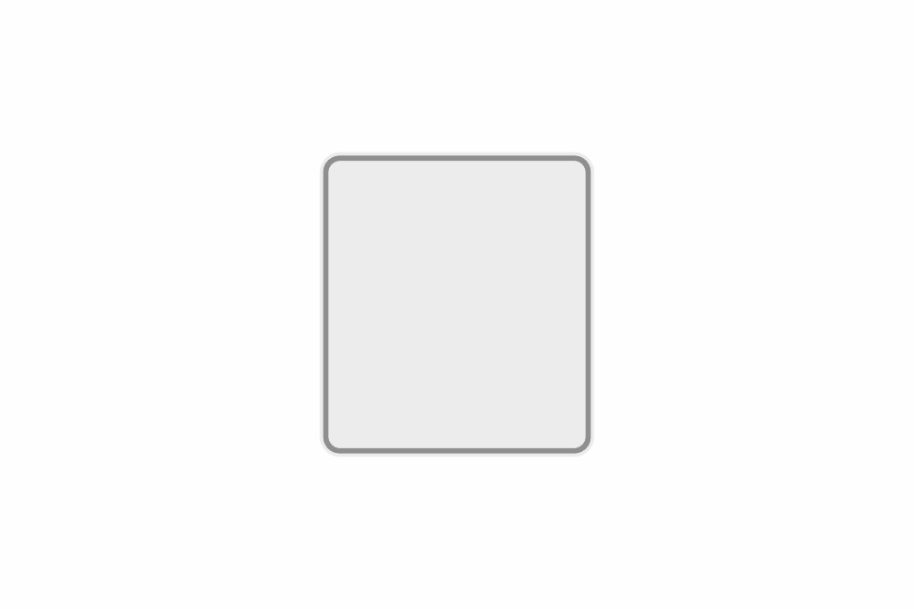 Schild weiß reflex 180 x 200 x 1 mm