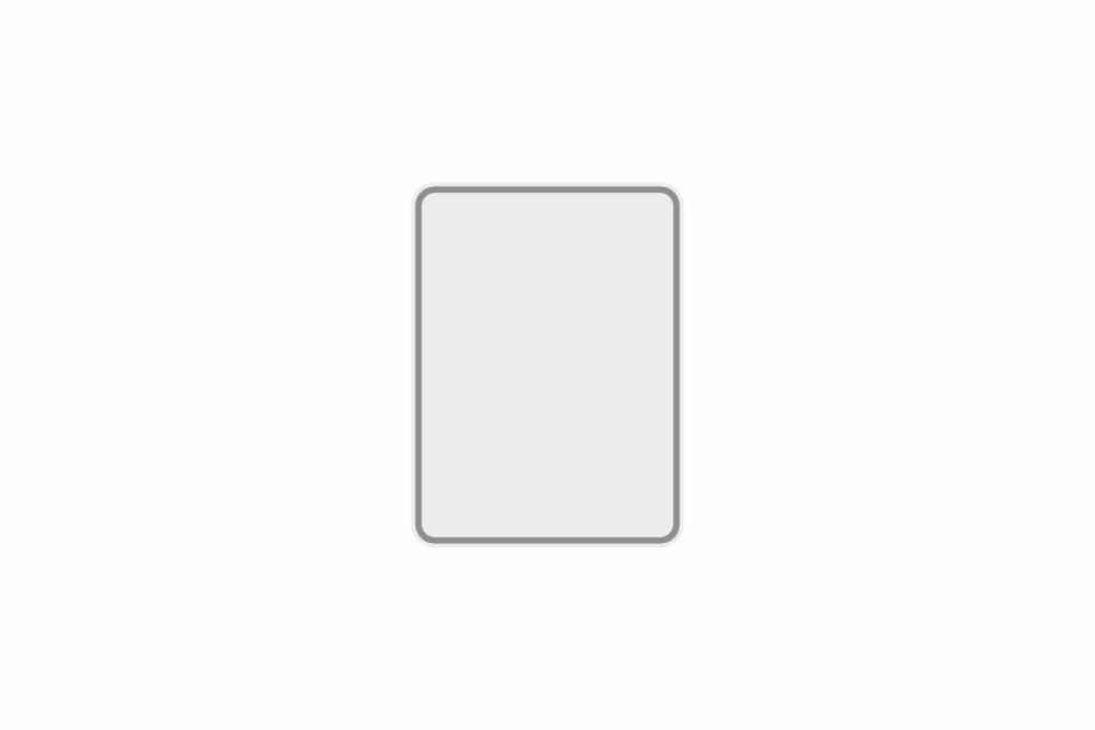 Schild weiß reflex 149 x 200 x 1 mm