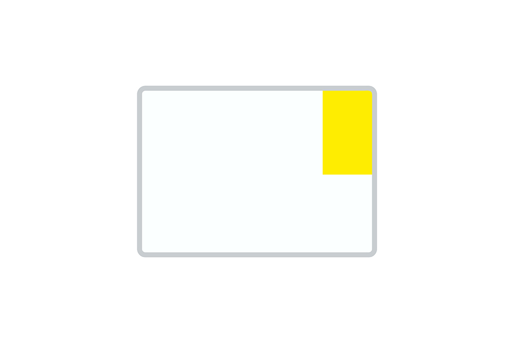 License Plate Short-Term / Temporary white reflex 280 x 200 x 1 mm