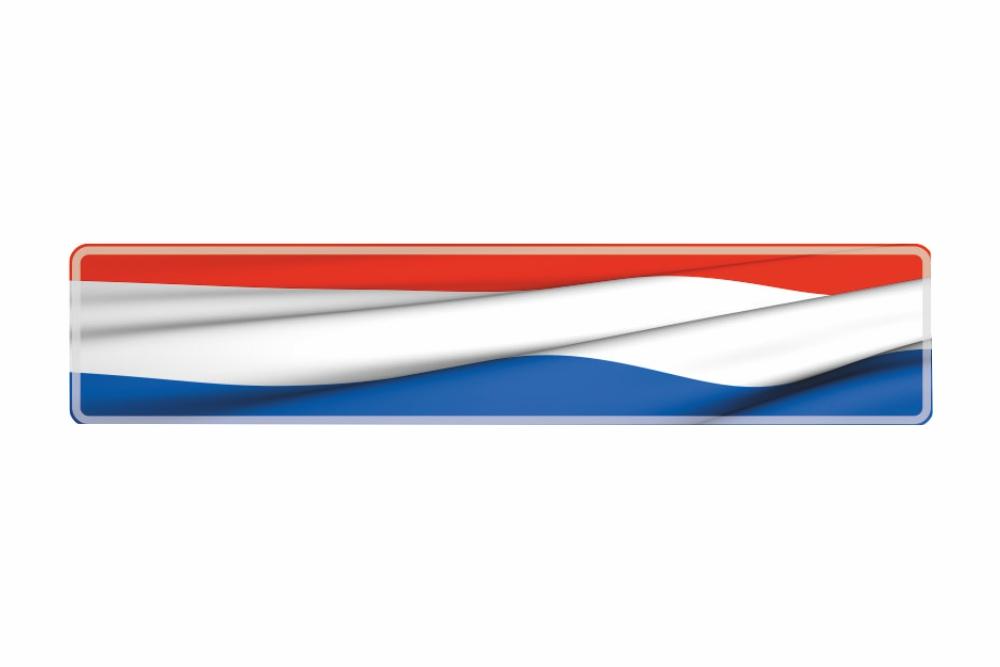 Schild Niederlande 520 x 110 x 1 mm