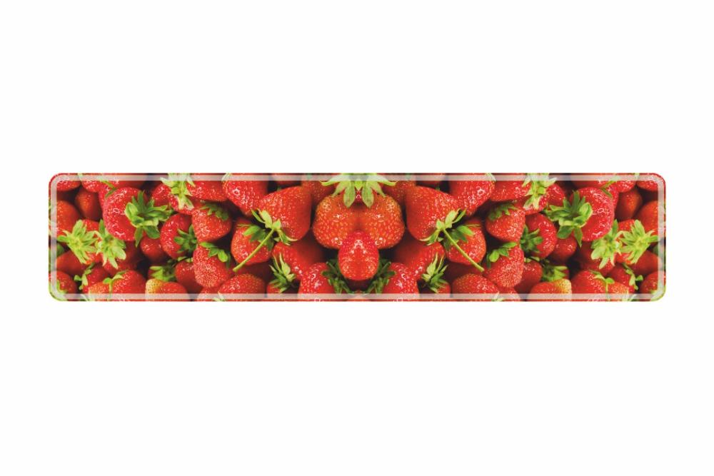 Schild Erdbeere 520 x 110 x 1 mm