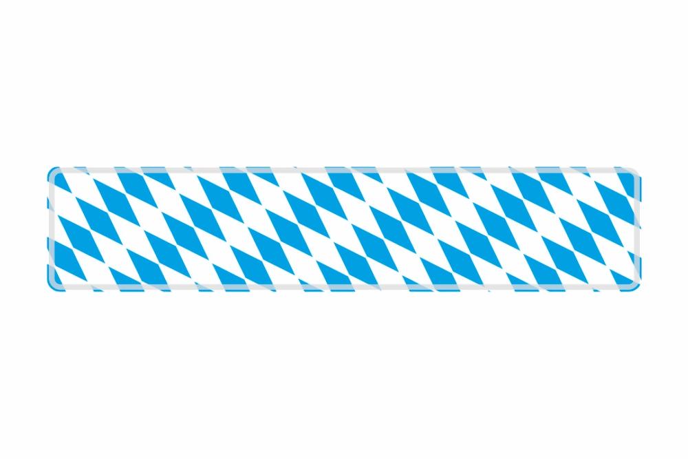 Schild Bayern Raute 520 x 110 x 1 mm