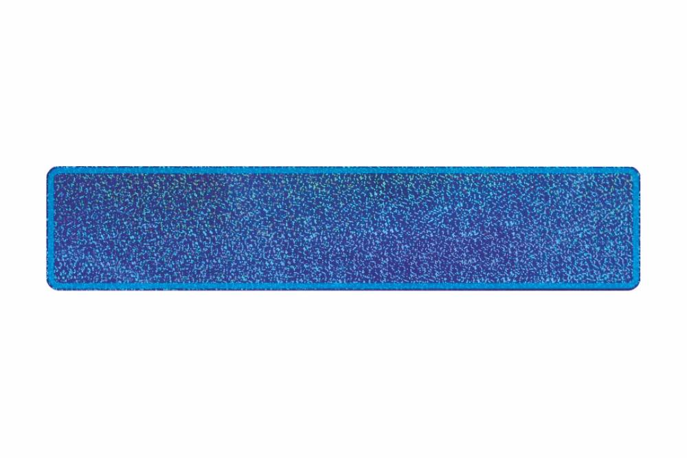Schild glitzer blau 520 x 110 x 1 mm