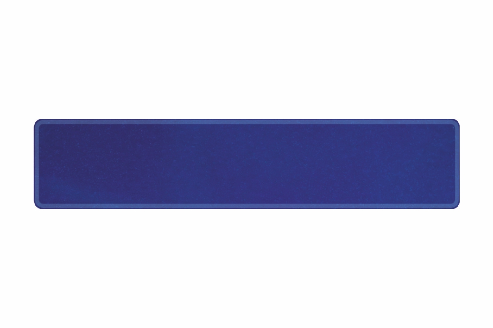 Schild sparkling blau dunkel 520 x 110 x 1 mm