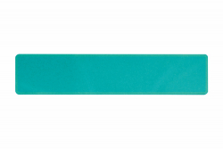 Plate sparkling turquoise 520 x 110 x 1 mm