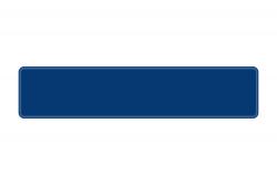 Schild verkehrsblau 520 x 110 x 1 mm
