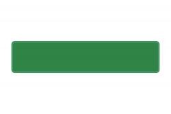 Schild grün 520 x 110 x 1 mm