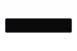 Schild schwarz glänzend 520 x 110 x 1 mm