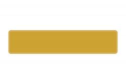 Schild gold 520 x 110 x 1 mm
