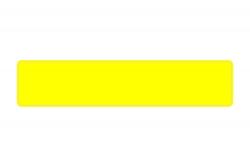 Schild gelb fluoreszierend 520 x 110 x 1 mm