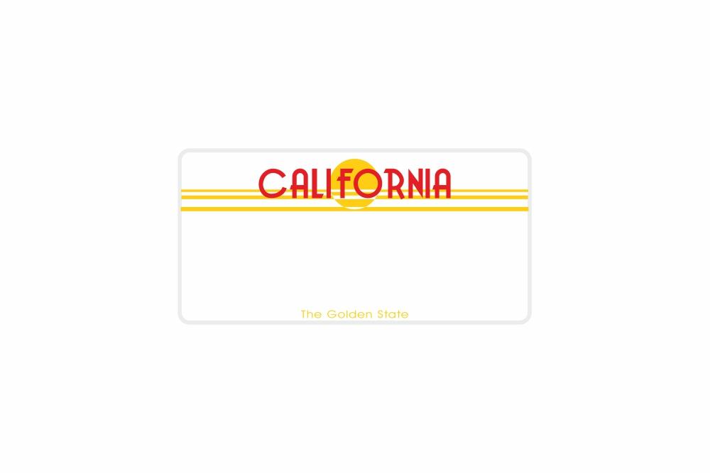 Schild California 300 x 150 x 1 mm