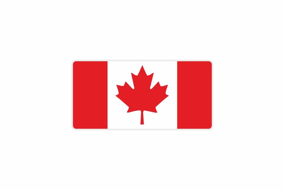 Schild Kanada 300 x 150 x 1 mm
