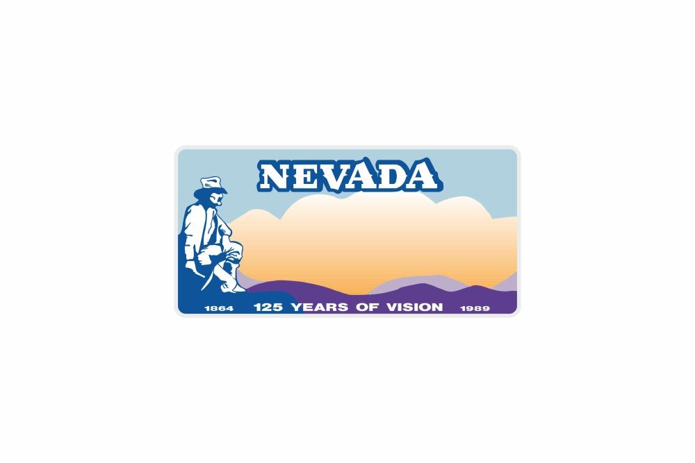 Schild Nevada 300 x 150 x 1 mm