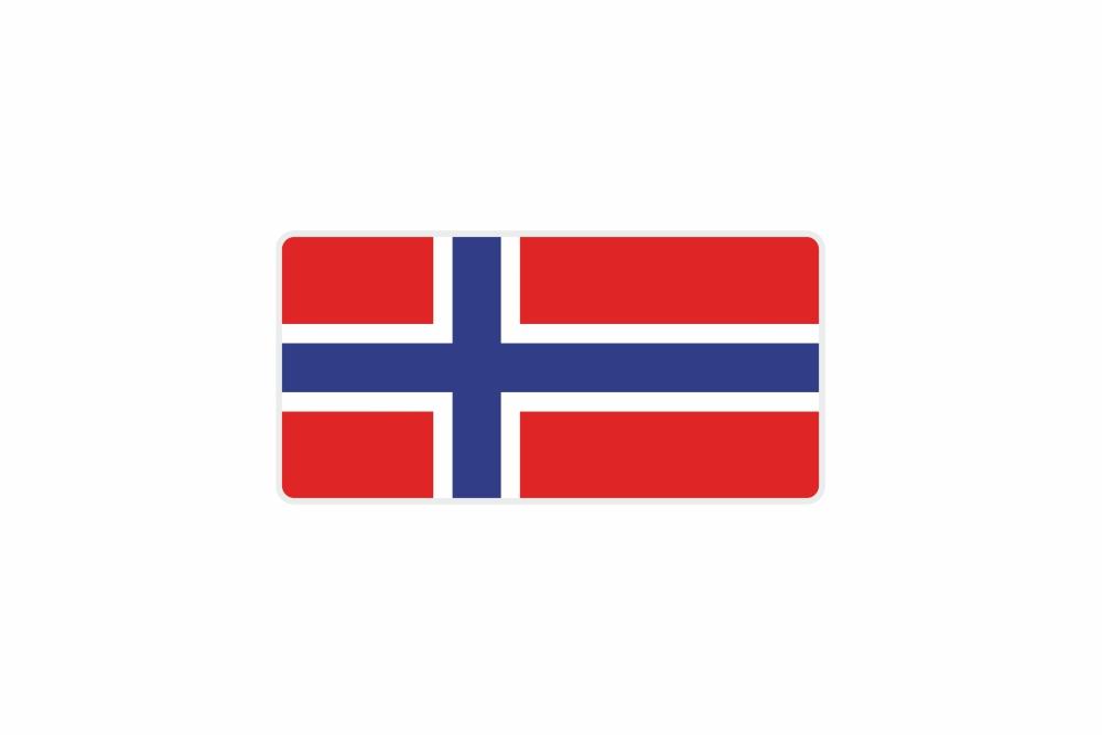 Schild Norwegen 300 x 150 x 1 mm