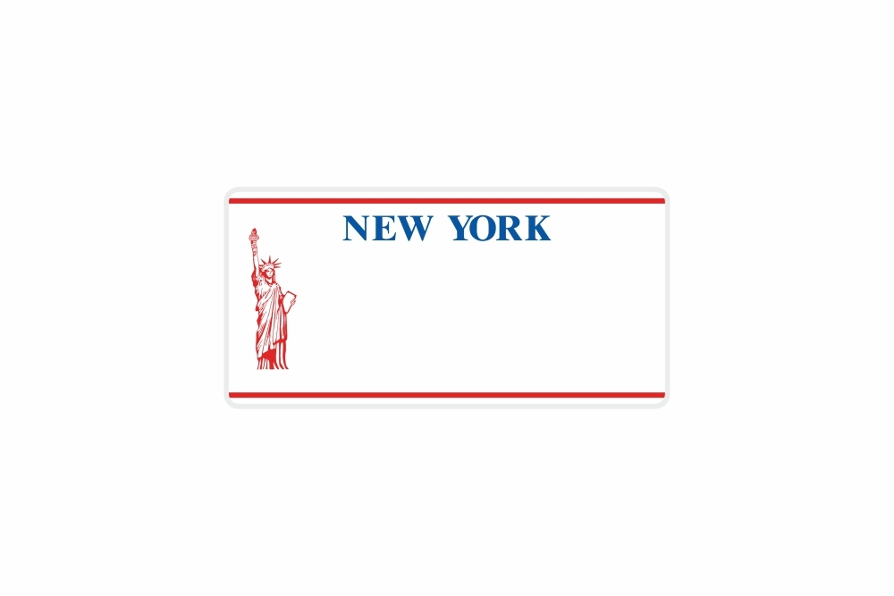 Schild New York 300 x 150 x 1 mm