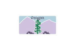 Schild Oregon 300 x 150 x 1 mm