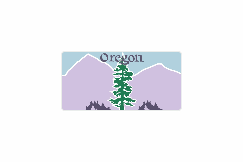 Schild Oregon 300 x 150 x 1 mm