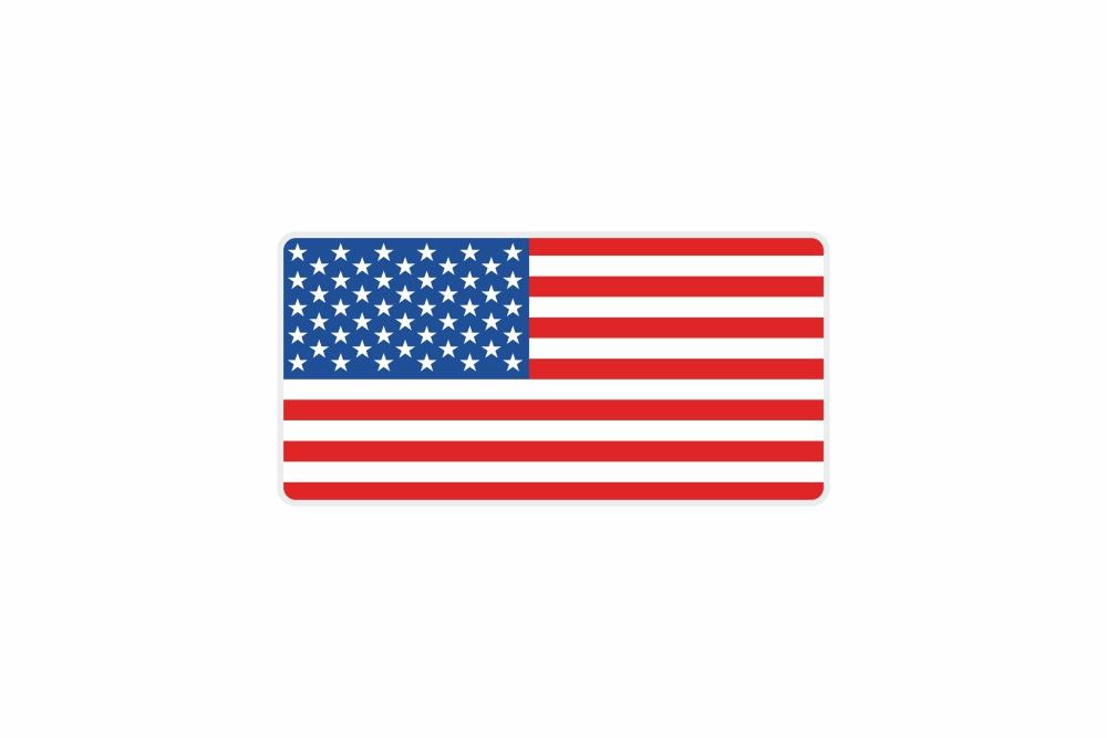Schild USA 300 x 150 x 1 mm