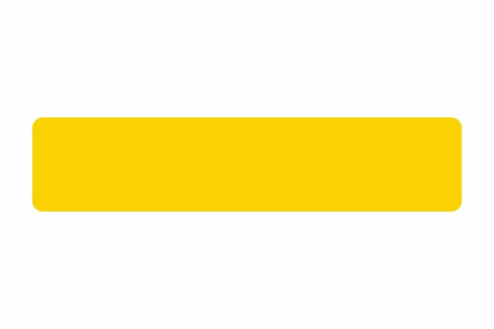 Schild gelb reflex 522,0 x 113,9 x 1,0 mm GLATT