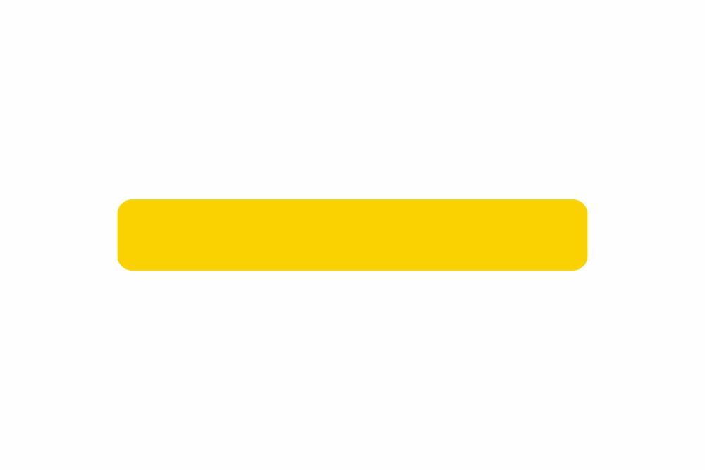 Schild gelb reflex 400,0 x 60,0 x 1,0 mm GLATT