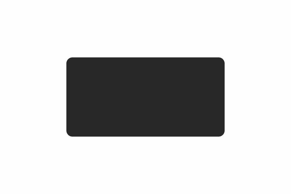 Schild schwarz matt 381,0 x 134,0  x 1,0 mm GLATT