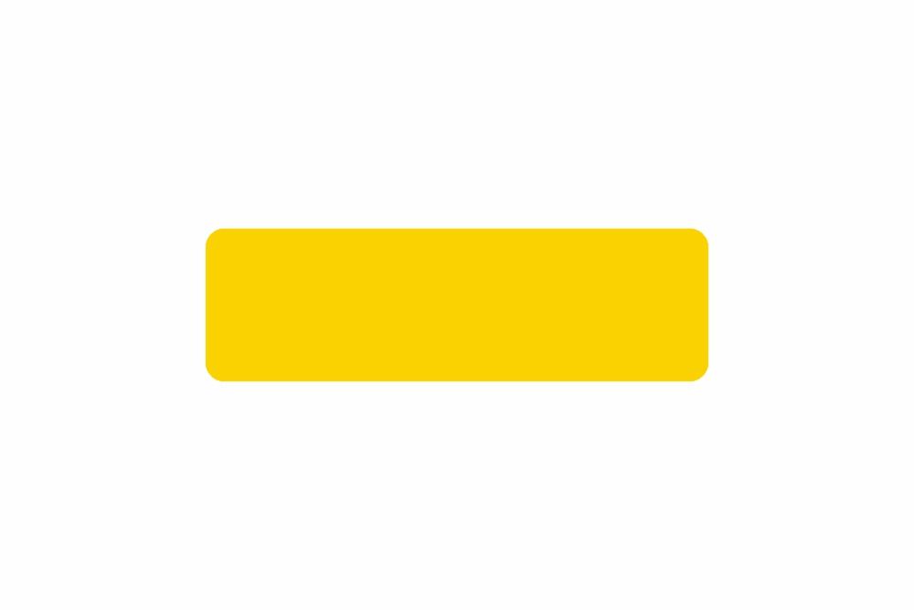 Schild gelb reflex 330,0 x 100,0 x 1,0 mm GLATT