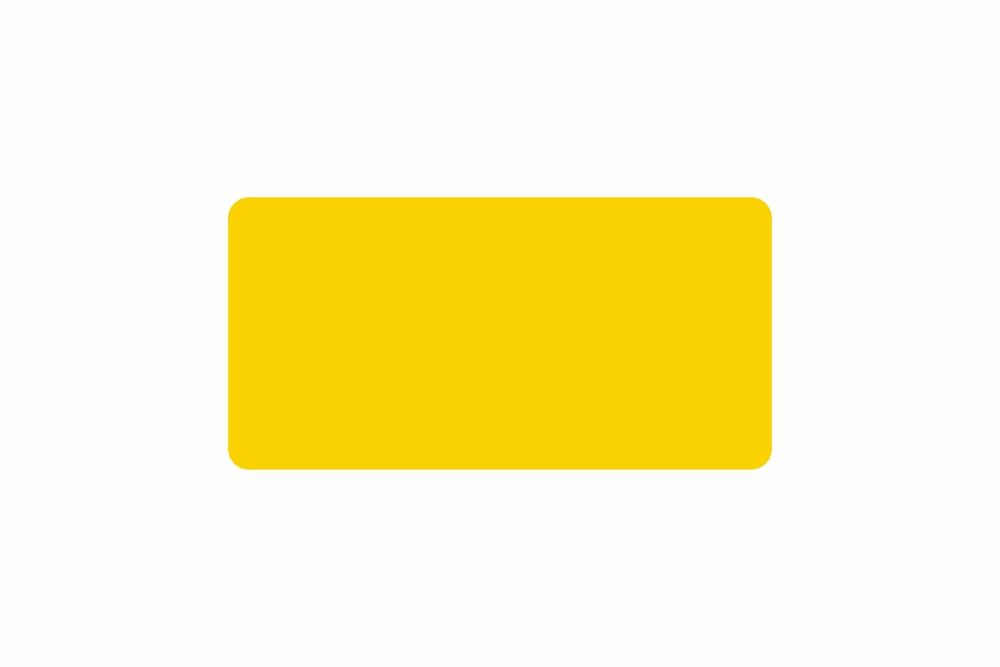Schild gelb reflex 326 x 163 x 1 mm GLATT
