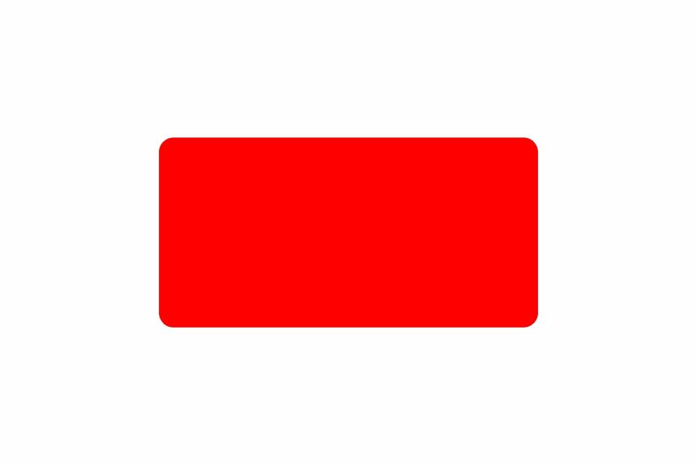 Schild rot reflex 326 x 163 x 1 mm GLATT
