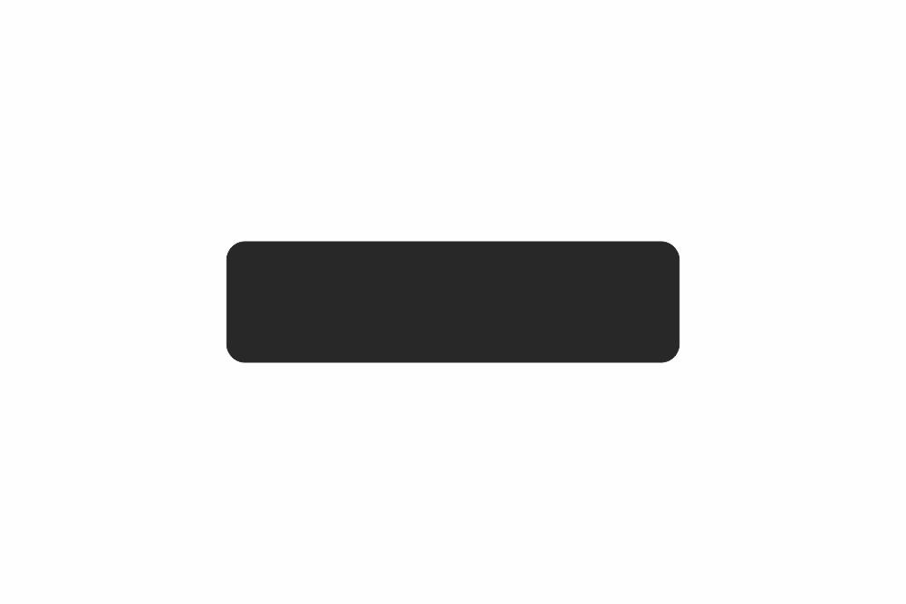 Schild schwarz matt 300 x 80 x 1 mm GLATT