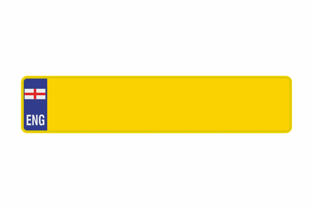 Schild ENG / England gelb reflex 520 x 110 x 1 mm