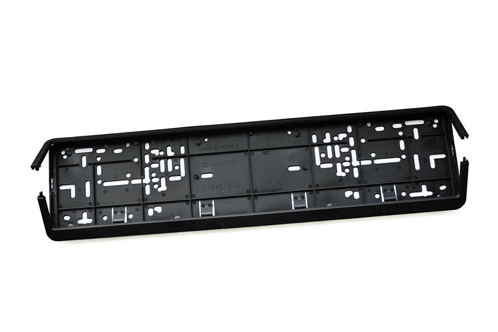 Kennzeichenhalter Würth Klappfix schwarz 520 x 110 mm