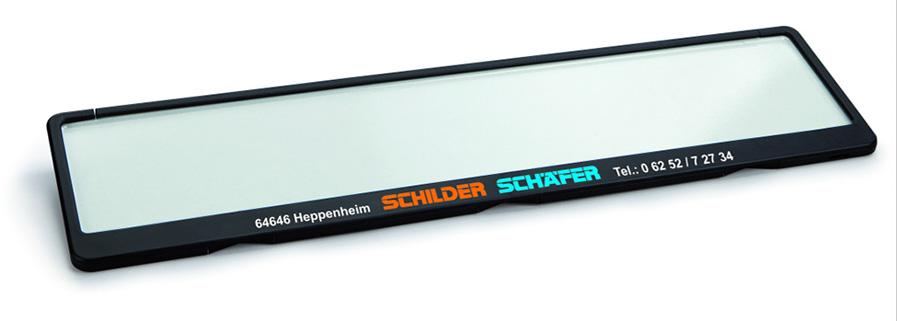 Kennzeichenhalter Future schwarz 520 x 110 mm