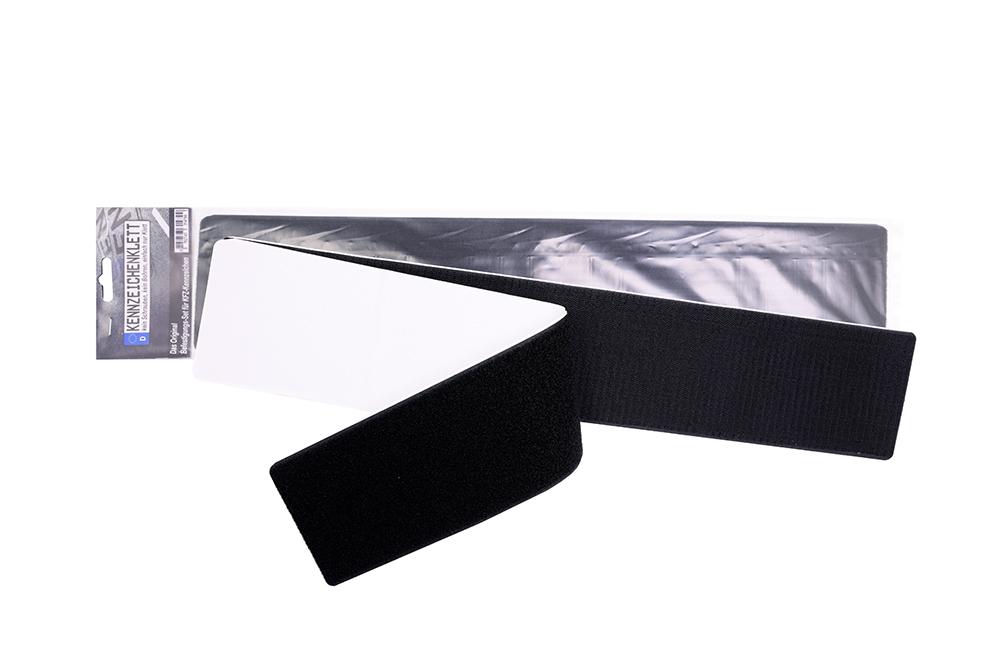 Klett Kennzeichenbefestigung rahmenlos u. selbstklebend 520 x 110 mm
