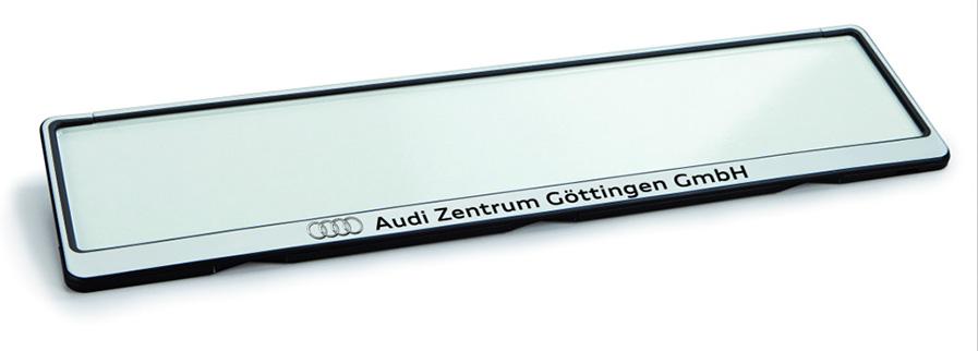 Kennzeichenhalter Future 4F silber 520 x 110 mm