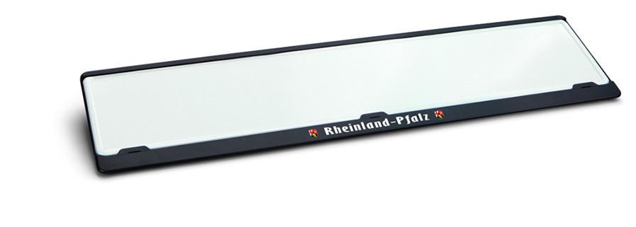 Kennzeichenhalter Sparprofi schwarz 520 x 110 mm